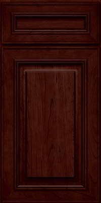 Square Raised Panel - Solid (AA0C) Cherry in Cabernet - Base