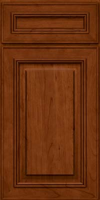 Square Raised Panel - Solid (AA0C) Cherry in Cinnamon - Base