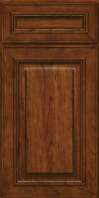 Square Raised Panel - Solid (AA0C) Cherry in Cognac - Base