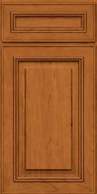 Square Raised Panel - Solid (AA0C) Cherry in Honey Spice - Base