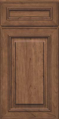 Square Raised Panel - Solid (AA0C) Cherry in Husk - Base