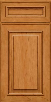 Square Raised Panel - Solid (AA0C) Cherry in Natural - Base