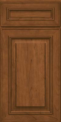 Square Raised Panel - Solid (AA0C) Cherry in Rye - Base