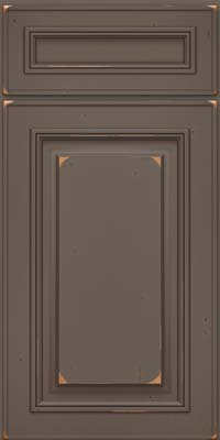 Square Raised Panel - Solid (AA0C) Cherry in Vintage Greyloft w/ Sable Patina - Base