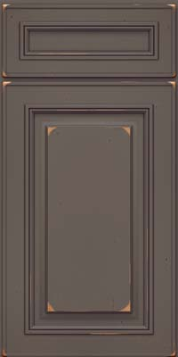 Square Raised Panel - Solid (AA0C) Cherry in Vintage Greyloft - Base