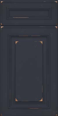 Square Raised Panel - Solid (AA0C) Cherry in Vintage Midnight - Base