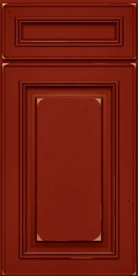 Square Raised Panel - Solid (AA0C) Cherry in Vintage Cardinal - Base