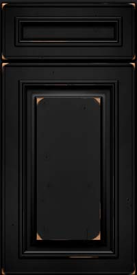 Square Raised Panel - Solid (AA0C) Cherry in Vintage Onyx - Base