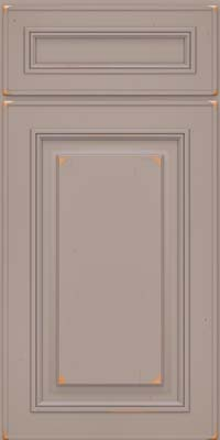 Square Raised Panel - Solid (AA0C) Cherry in Vintage Pebble Grey - Base