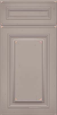 Square Raised Panel - Solid (AA0C) Cherry in Vintage Pebble Grey w/ Coconut Patina - Base