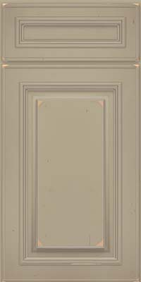 Square Raised Panel - Solid (AA0C) Cherry in Vintage Willow w/ Cinder Patina - Base