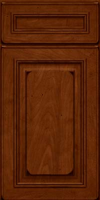 Square Raised Panel - Solid (AA0M) Maple in Burnished Chestnut - Base