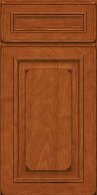 Square Raised Panel - Solid (AA0M) Maple in Burnished Cinnamon - Base