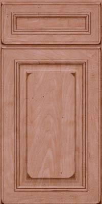 Square Raised Panel - Solid (AA0M) Maple in Burnished Ginger - Base
