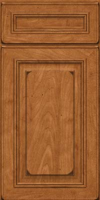 Square Raised Panel - Solid (AA0M) Maple in Burnished Praline - Base