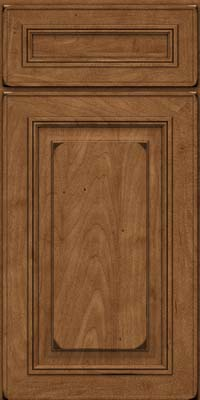 Square Raised Panel - Solid (AA0M) Maple in Burnished Rye - Base