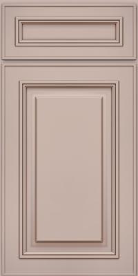 Square Raised Panel - Solid (AA0M1) Maple in Chai w/Cocoa Glaze - Base