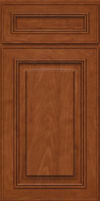 Square Raised Panel - Solid (AA0M) Maple in Chestnut - Base