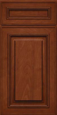 Square Raised Panel - Solid (AA0M) Maple in Chestnut w/Onyx Glaze - Base