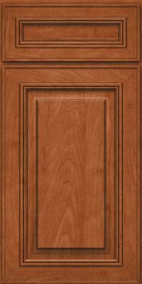 Square Raised Panel - Solid (AA0M) Maple in Cinnamon - Base