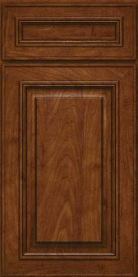 Square Raised Panel - Solid (AA0M) Maple in Cognac - Base