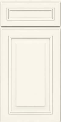 Square Raised Panel - Solid (AA0M) Maple in Dove White - Base
