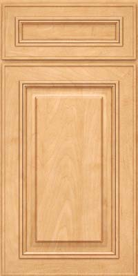 Square Raised Panel - Solid (AA0M) Maple in Honey Spice - Base