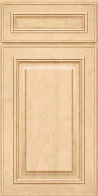 Square Raised Panel - Solid (AA0M) Maple in Natural - Base