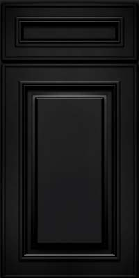 Square Raised Panel - Solid (AA0M) Maple in Onyx - Base