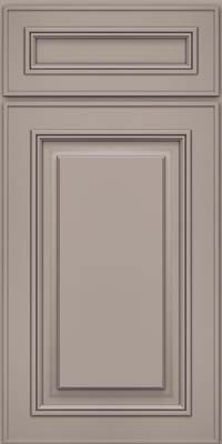 Square Raised Panel - Solid (AA0M) Maple in Pebble Grey - Base