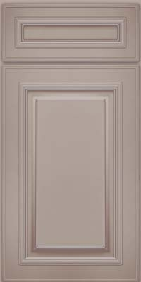 Square Raised Panel - Solid (AA0M) Maple in Pebble Grey w/ Cocoa Glaze - Base