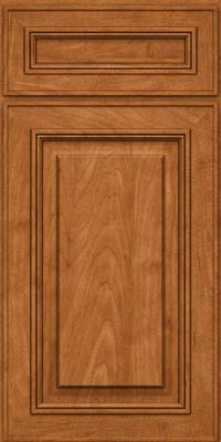 Square Raised Panel - Solid (AA0M) Maple in Praline w/Mocha Highlight - Base