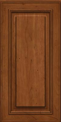 Square Raised Panel - Solid (AA0C) Cherry in Antique Chocolate w/Mocha Glaze - Wall