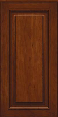 Square Raised Panel - Solid (AA0C) Cherry in Autumn Blush - Wall