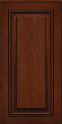 Square Raised Panel - Solid (AA0C) Cherry in Autumn Blush w/Onyx Glaze - Wall