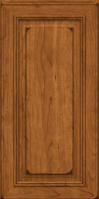 Square Raised Panel - Solid (AA0C) Cherry in Burnished Golden Lager - Wall