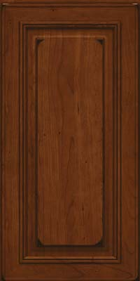 Square Raised Panel - Solid (AA0C) Cherry in Burnished Autumn Blush - Wall