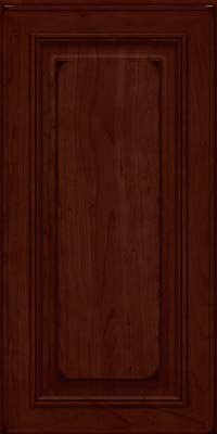 Square Raised Panel - Solid (AA0C) Cherry in Burnished Cabernet - Wall