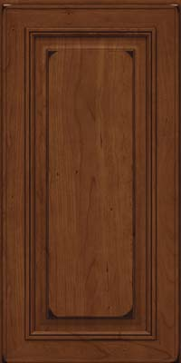 Square Raised Panel - Solid (AA0C) Cherry in Burnished Chocolate - Wall