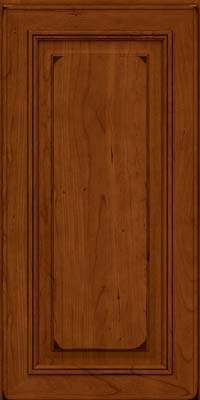 Square Raised Panel - Solid (AA0C) Cherry in Burnished Cinnamon - Wall