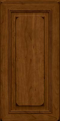 Square Raised Panel - Solid (AA0C) Cherry in Burnished Ginger - Wall