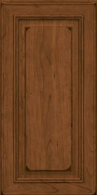 Square Raised Panel - Solid (AA0C) Cherry in Burnished Rye - Wall