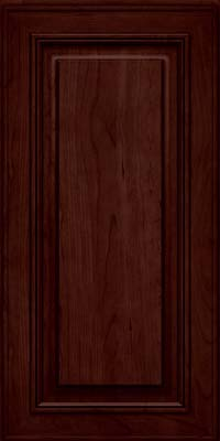 Square Raised Panel - Solid (AA0C) Cherry in Cabernet - Wall