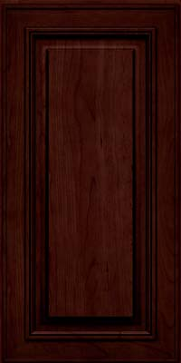 Square Raised Panel - Solid (AA0C) Cherry in Cabernet w/Onyx Glaze - Wall