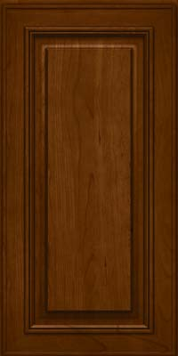 Square Raised Panel - Solid (AA0C) Cherry in Chocolate - Wall