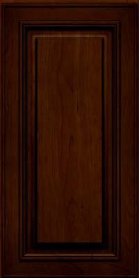 Square Raised Panel - Solid (AA0C) Cherry in Chocolate w/Ebony Glaze - Wall