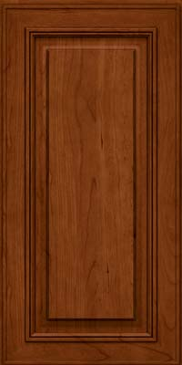 Square Raised Panel - Solid (AA0C) Cherry in Cinnamon - Wall