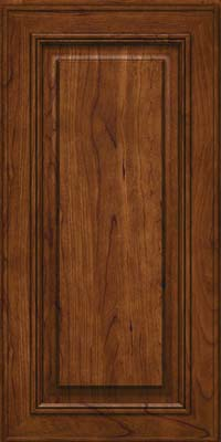 Square Raised Panel - Solid (AA0C) Cherry in Cognac - Wall