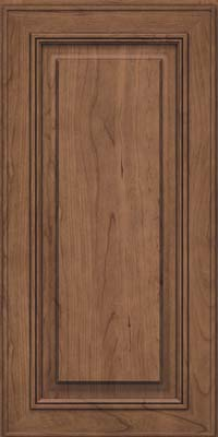 Square Raised Panel - Solid (AA0C) Cherry in Husk Suede - Wall