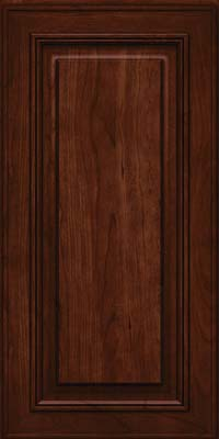 Square Raised Panel - Solid (AA0C) Cherry in Kaffe - Wall